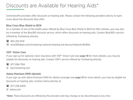 Hearing Aid Discounts Available