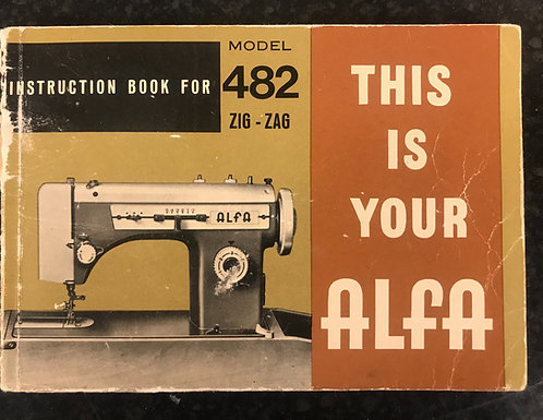 Alfa Model 482 Instruction Book.