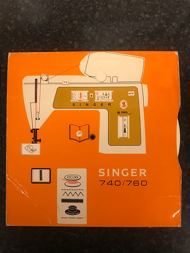 Singer 740/760 Stitch Setup Rotary Card