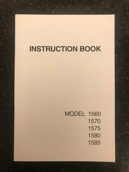 Janome 1560 etc Instruction Book.