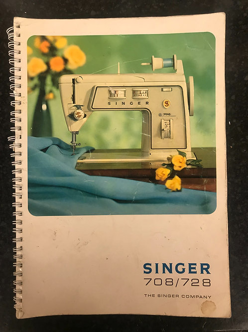 Singer 708 / 728 Touch and Sew Instruction Book