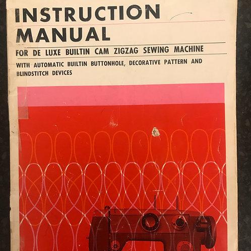 De Luxe Zig Zag Instruction Book.