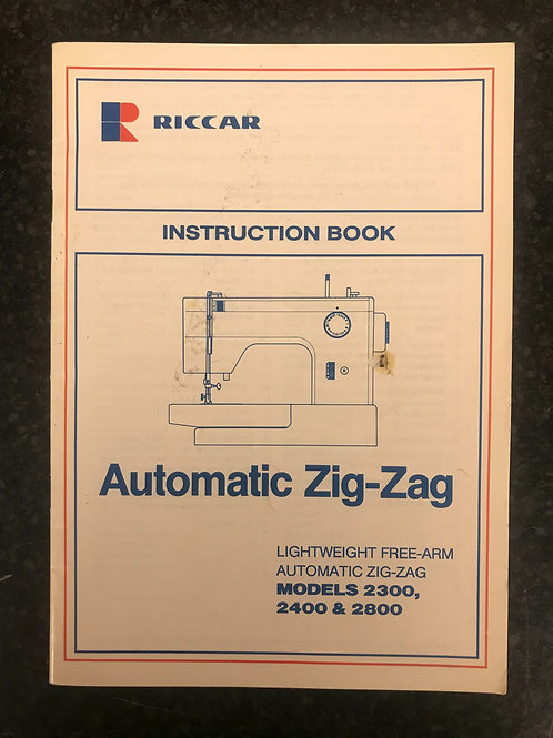 Riccar Models 2300,2400 & 2800 Instruction Book