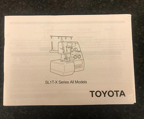 Toyota Overlocker SL1T-X Instruction Book.