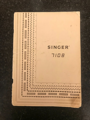 Singer 7108 Instruction Book.