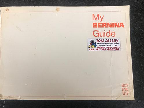 Bernina Minimatic 807-810-817 Instruction Book