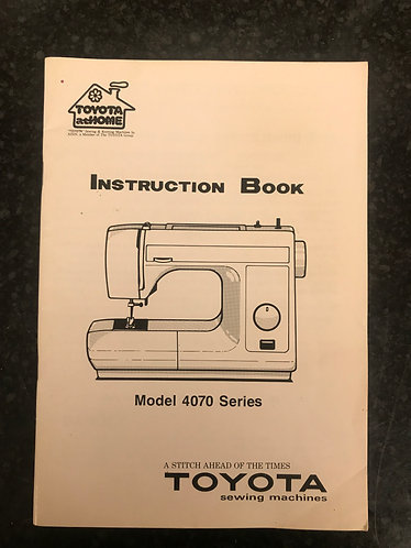 Toyota Model 4070 Series Instruction Book.