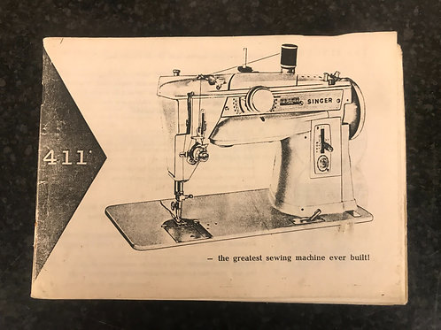 Singer 411g Instruction Book.