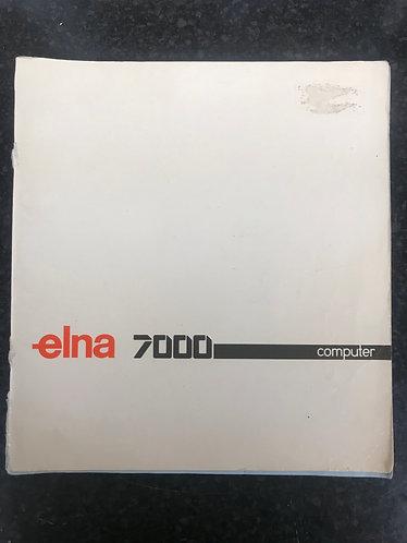 Elna 7000 Computer Instruction Book.