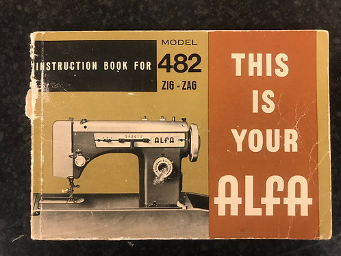 Alfa 482 Instruction Book.