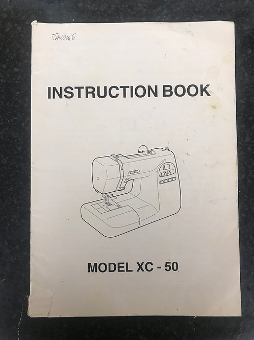 Janome XC-33 Instruction Book