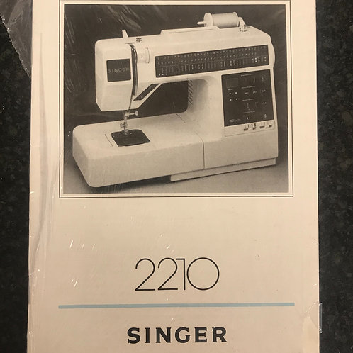 Singer 2210 New Instruction Book.