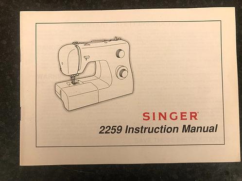 Singer 2259 Inspiration Instruction Book.
