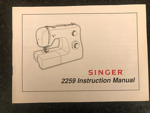 Singer 2259 Inspiration Instruction Book.