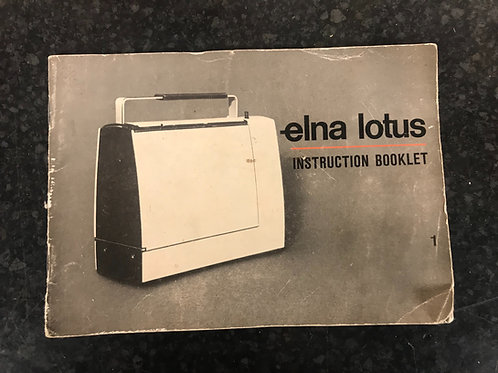 Elna Lotus Instruction Book and Sewing Guide Set