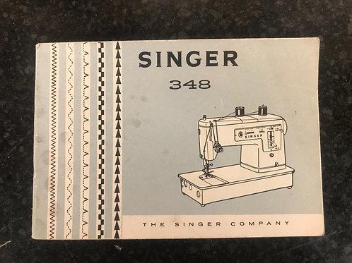 Singer 348 Instruction Book.