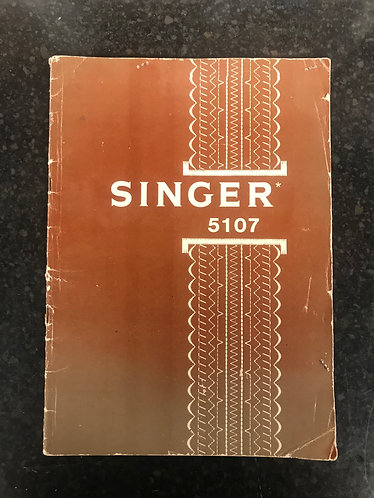 Singer 5107 Instruction Book.