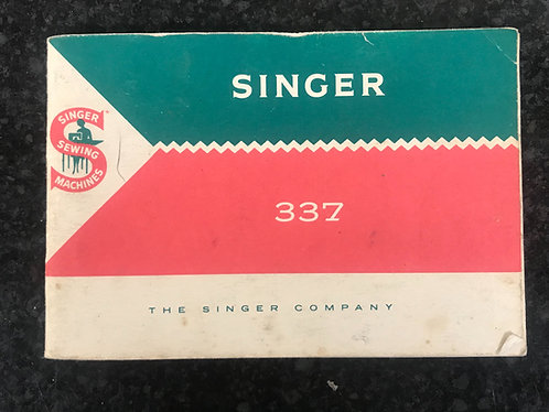 Singer 337 Instruction Book.
