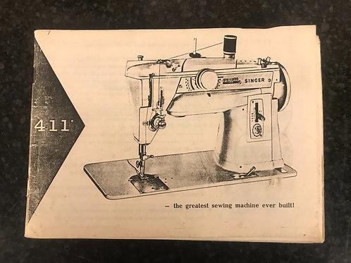 Singer 411 Instruction Book.