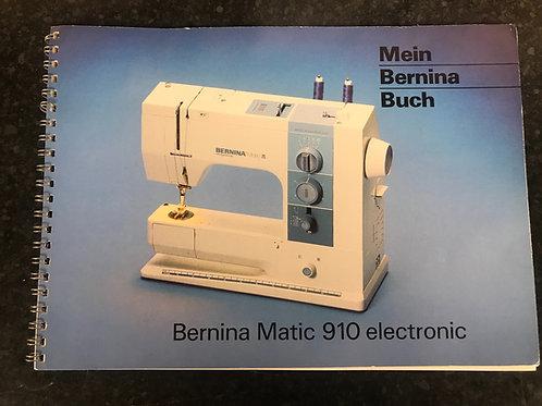 Bernina 910 (German) Instruction Book