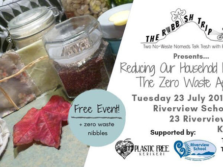 Upcoming free Zero Waste events in Kerikeri & Plastic Free July events