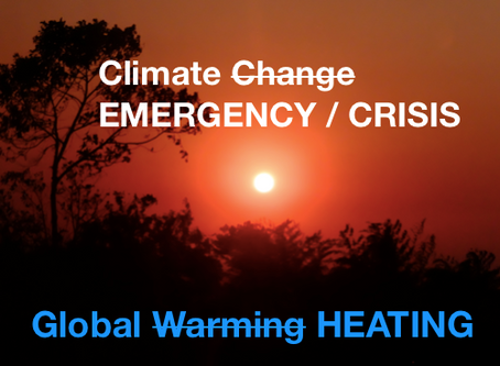 Climate change - time to call it what it is - an EMERGENCY