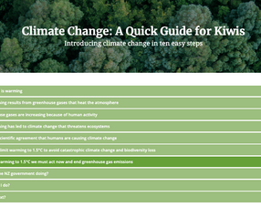 A kiwi guide to climate change