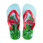 Flamingos Natural Rubber Flip Flops