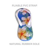 Plumeria Natural Rubber Flip Flops