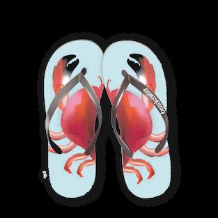 Red Crab Flip Flops