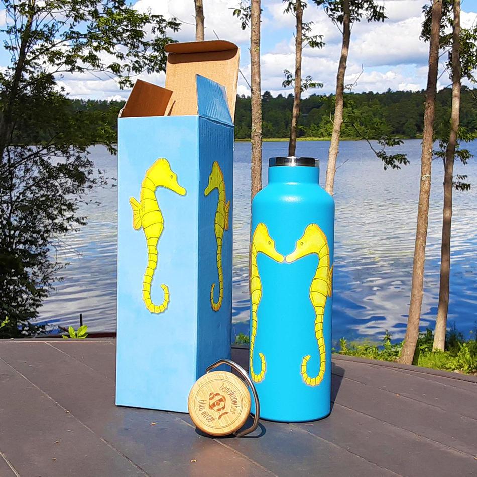 Seahorses Water Bottle