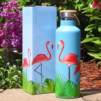 Flamingos Stainless Steel Water Bottle