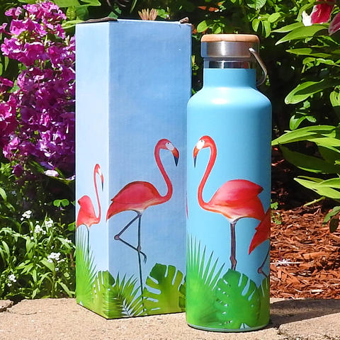 Flamingos Stainless Steel Water Bottle