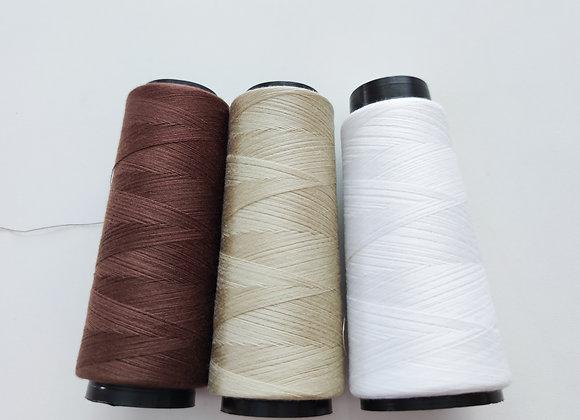 Trio Cone de Linha- marrom, cru e branca.