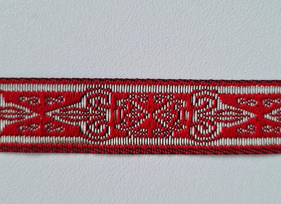 Fita Grega - Poliéster- Vermelha- 3MT