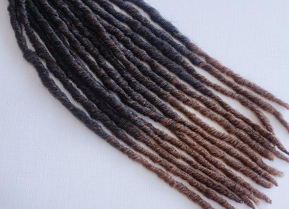 Canudinho- Castanho escuro com pontas acobreadas