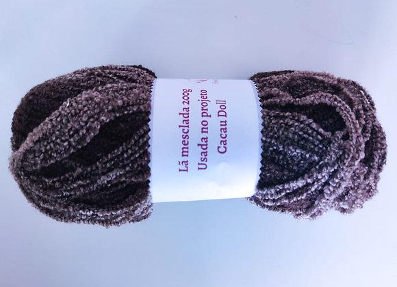 Lã Cacau Doll- marrom mesclado- 200g
