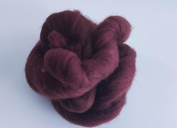 lã de feltragem- marrom avermelhado- 25g