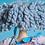 Thumbnail: Lã de feltragem Coleção Arco Íris-Azul Claro