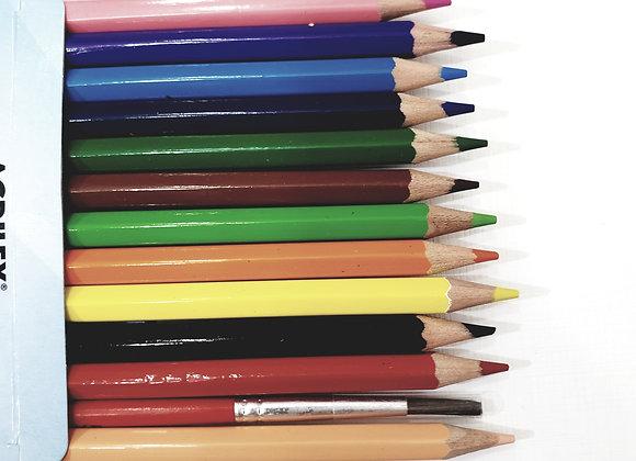 Lapis de cor Aquarelável 12 Cores