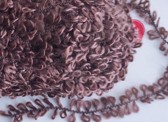 Lã Especial cacheada - marrom- 50g