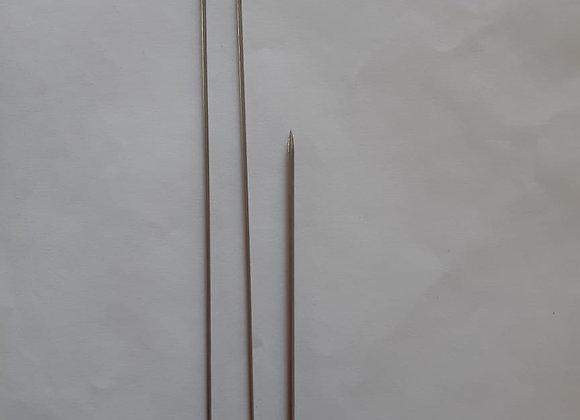 kit 3  agulhões  para boneca de pano (25,20 e 15 cm)