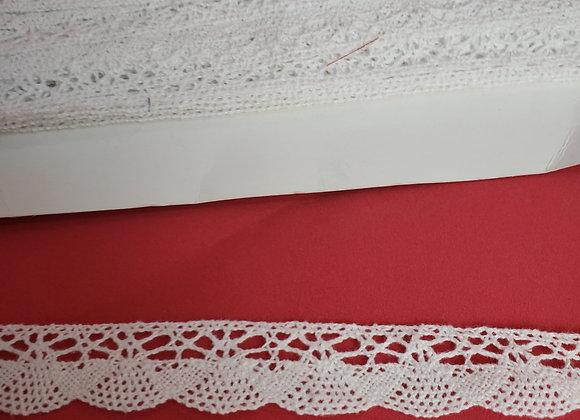 Renda de algodão branca 2cm(largura) x 2MT