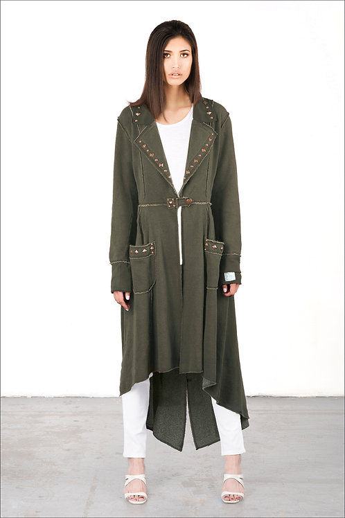 Full-Length Scripture Coat | Shown Here In Soldier Green