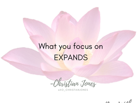 You Give Power To What You Focus On
