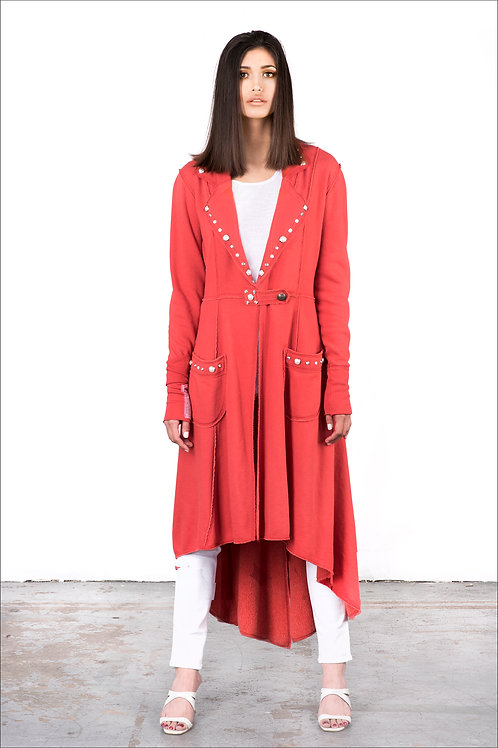 Full-Lenth Scripture Coat | Shown Here In Scarlet Red