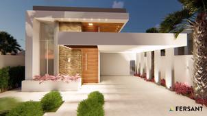 3 FERSANT fachada condominio casa planta