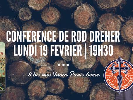 Conférence de Rod Dreher