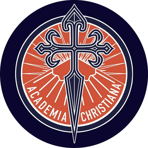 Autocollants ronds - Academia Christiana (x 50)