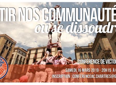 Conférence à Chartres